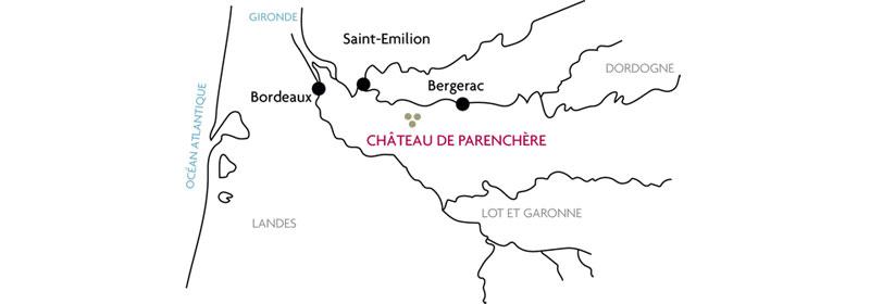 Plan château de Parenchère